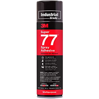 13.4 oz 3M Super 77 Spray Adhesive included in kit